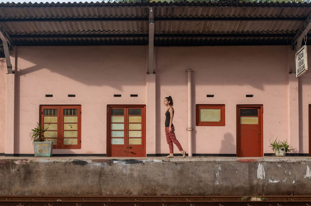Train station, Midigama, Sri Lanka