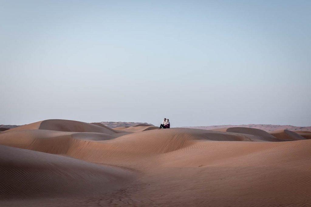 Wahiba Sands desert sand dunes, Oman