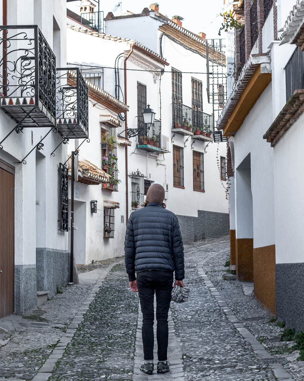 Walking through the streets of Granada, Spain