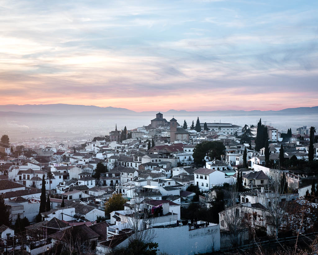 Sunset over Granada, Spain
